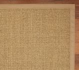 Color-Bound Natural Sisal Rug Swatch, Chino Border