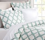 Molly Trellis Organic Cotton Duvet Cover, Twin, Neutral