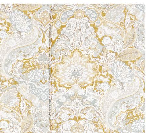Celeste Damask Bedding Swatch, Gold