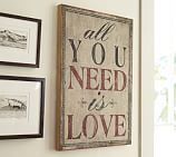 All You Need Is Love Wood Wall Art