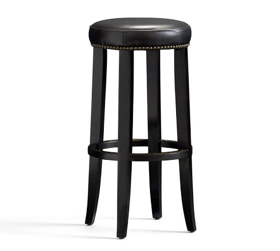 Kass Backless Barstool, Bar Height, Black