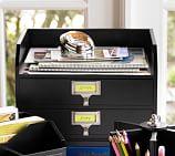 Bedford Two-Drawer Paper Organizer, Black