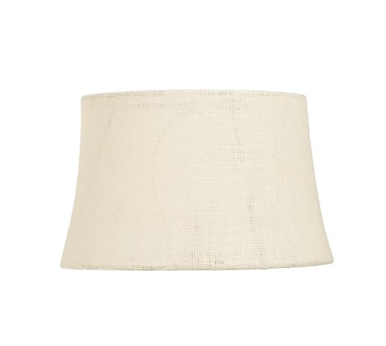 Burlap Tapered Drum Lamp Shade, Small, Bleached