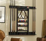Cue Stick Wall Mount Storage Rack, Berry Black Finish