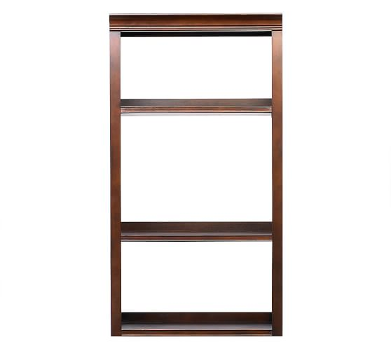 """Logan Hutch with Open Shelving, 24"""" Mahogany stain"""