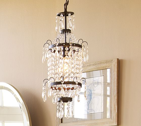 Harper Tiered Crystal Pendant Chandelier, 6-light Antique Bronze finish