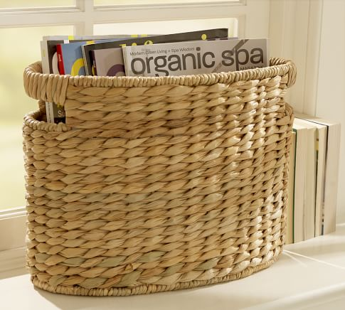 Savannah Oval Magazine Basket