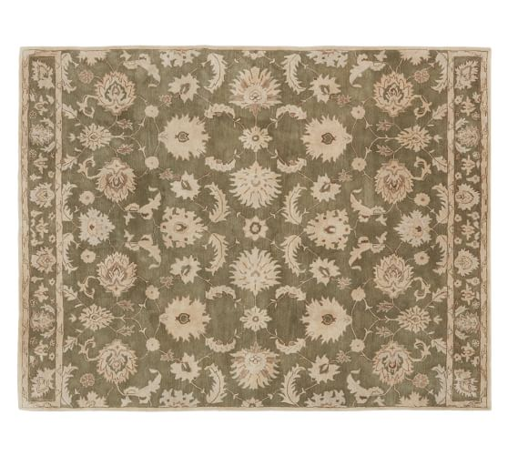 Gabrielle Persian-Style Tufted Wool, 5x8', Green
