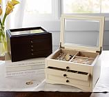 Andover Small Jewelry Box, Espresso