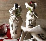 Textured Linen Wine Bag, Flax