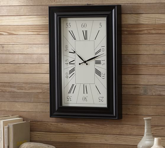 Rectangular Wall Clock, 16 x 24
