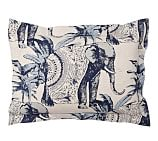 Ari Elephant Printed Sham, Standard, Twilight