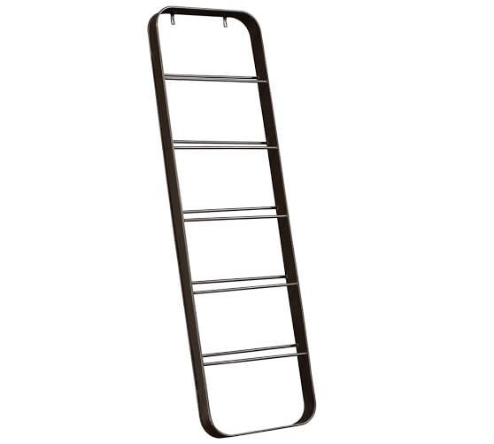 New York Metal Shoe Ladder, Rustic Iron finish