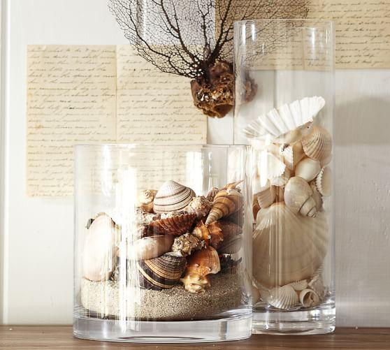 Assorted Beach Shell Vase Filler, White