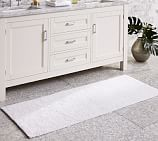 PB Classic Bath Rug, Double Console Width, White