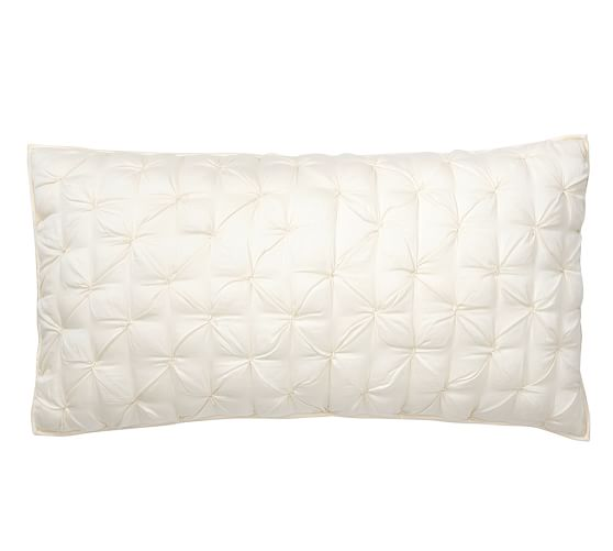 Isabelle Hand Tufted Voile Wholecloth Sham, King, Ivory