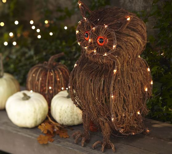 Decorative Owl with Lights