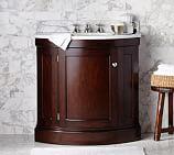 Brinkley Demilune Single Sink Console Espresso finish with Porcelain Sink Basin