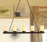 Veranda Linear Chandelier, Bronze finish