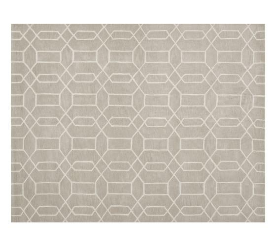 Reed Geometric Rug, 3x5', Stone