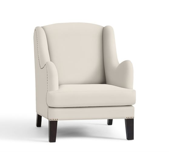 Nottingham Upholstered Armchair, Polyester Wrapped Cushions, Organic Cotton Canvas Natural