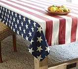 American Flag Star Tablecloth, 70 x 108