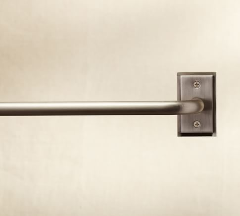 PB Essential Drape Rod, Small, Pewter finish