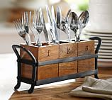 Vintage Blacksmith Flatware Caddy