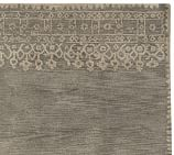 Desa Bordered Wool Rug Swatch, Gray