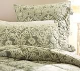 Lorraine Comforter, Full/Queen, Green
