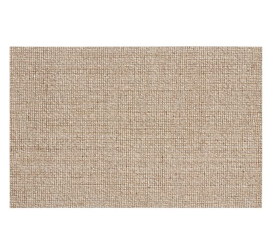 Chunky Wool & Boucle-Woven Jute Rug, 5x8', Natural