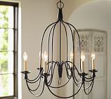 Armonk Chandelier, 6-Arm, Dark Bronze finish