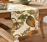 Watercolor Pumpkin Table Runner, 18 x 108
