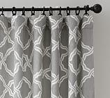 Kendra Trellis Pole Pocket Drape, 50 x 96