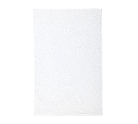 Shell Sculpted 600-gram Weight Hand Towel, White