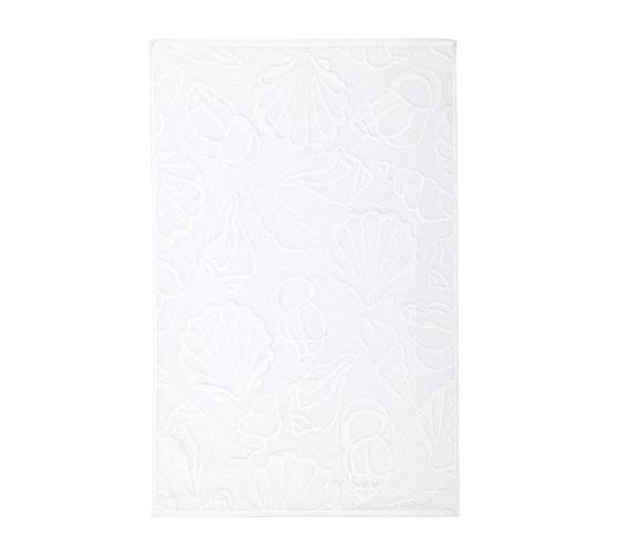 Shell Sculpted 600-gram Weight Hand Towel, White