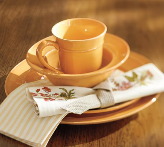 Cambria Mug, Set of 4, Saffron