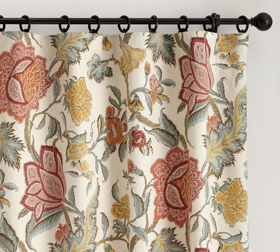 Cynthia Palampore Pole Pocket Drape, 50 x 63