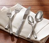 Shiny Hammered Flatware, 5-Piece Place Setting