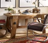 Hendrix Smart Technology™ Desk, Small, Heirloom Pine finish