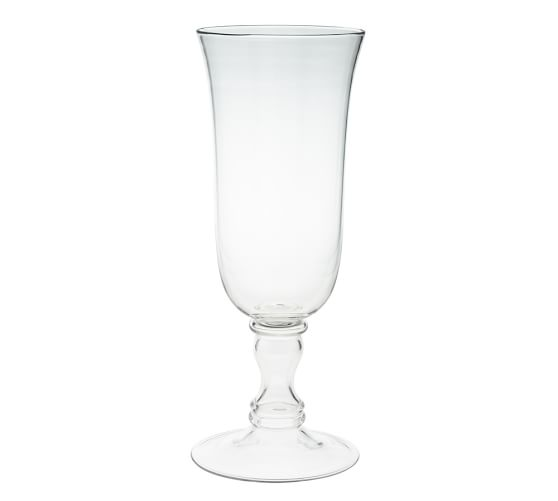 Voluminous Clear Glass Vase, Large