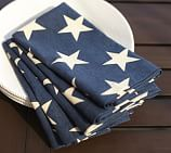 American Flag Star Dinner Napkin, 20