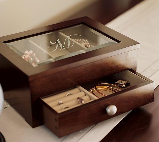 Isabella Jewelry Box, Mahogany stain
