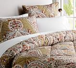 Angie Floral Comforter, Twin, Red