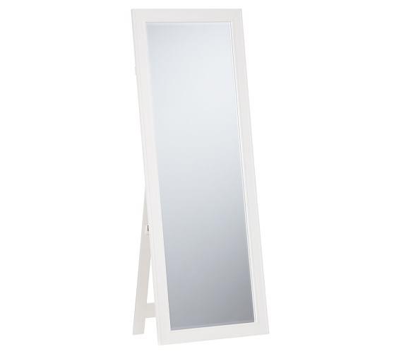 Classic Floor Mirror, White