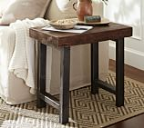 Griffin Wrought Iron & Reclaimed Wood Side Table