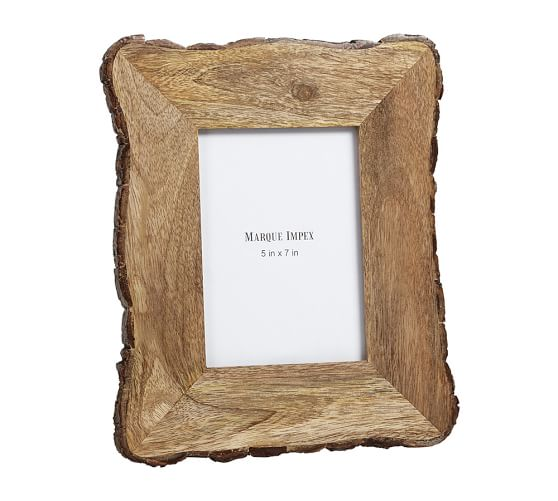 Tye Mill Bark Rim Picture Frame, 5 x 7