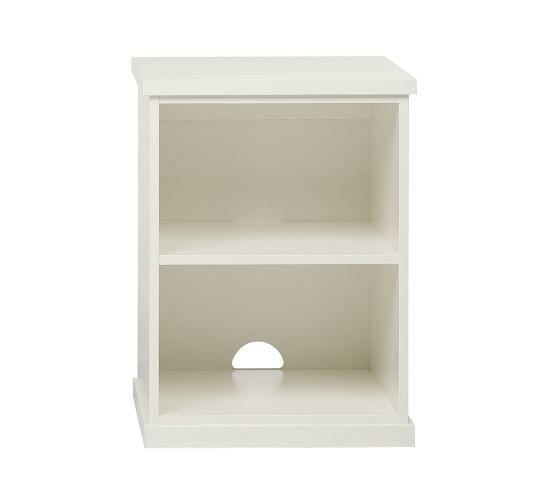 Bedford Open File Cabinet, Antique White