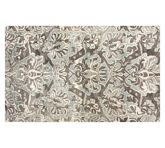 Aubrey tufted wool rug 8x10 39 gray pottery barn - Discontinued pottery barn rugs ...