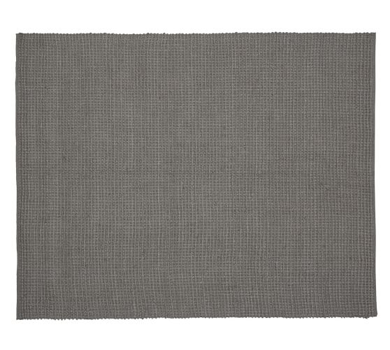 Mason Boucle Jute Rug, 8x10', Gray